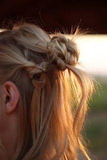 """""""tying the knot"""" hairstyles are a very chic and easy put together look!"""