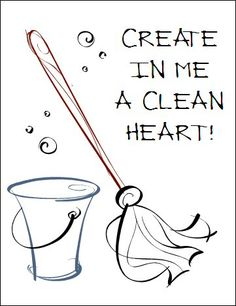 CREATE IN ME A CLEAN HEART Devotional for the disorganized #BibleStudy, #organization