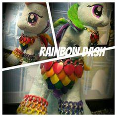 Rainbow Dash Custom made Chainmail Armor by NorthcoastArmor