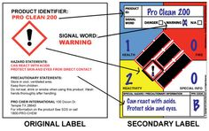 How To Label Chemicals When Migrating Them To Secondary Containers - Osha secondary container label template