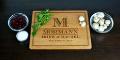 Wood Cutting Board  Personalized Engraved  by TaylorCraftsEngraved, $34.00
