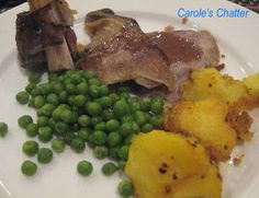 Carole's Chatter: Sunday Roast – Lamb leg with red wine gravy Red Wine Gravy, Roast Lamb Leg, Sunday Roast, Roast Recipes, Potato Recipes, Quotations, Steak, Food Ideas, Friday