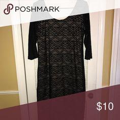 Mesh tribal print dress Cute mesh tribal print dress 3/4 mesh sleeves very chic night wear Xhilaration Dresses Midi