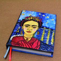 #lemurina #paravivirsoñando #arte #dibujo #agendas #libretas #ilustracion #illustration #encuadernacionartesanal #bookbinding #encuadernacion #art  #notebook #diary #hechoamano #handmade #draw #talentovenezolano #personalized #personalizado #frida #kahlo #fridakahlo