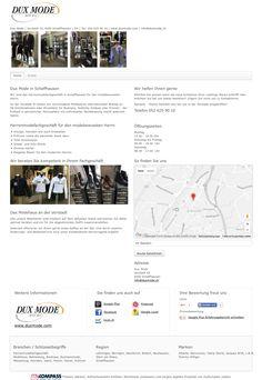Dux Mode, Schaffhausen, Herrenmodefachgeschäft, Modehaus, Bekleidung