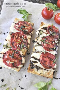 Caprese Garlic Bread is the perfect combination of two favorite dishes. It makes for the perfect summer treat. The other day my husband came in from the garden and instructed me that I needed to start making more recipes with tomatoes. Our garden has been exploding with tomatoes and we are running out of friends …