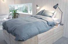 Ikea Hack Storage, Ikea Hacks, Box Room Bedroom Ideas, Bedroom Inspo, Tatami Bed, Diy Bett, Best Ikea, Ikea Furniture, Elle Decor