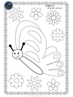 Butterflies Trace and Color Pages {Fine Motor Skills + Pre-writing} Preschool Writing, Kindergarten Activities, Tracing Sheets, Dots Free, Paisley Art, Kids Math Worksheets, Kids Art Class, Educational Games For Kids, Pre Writing