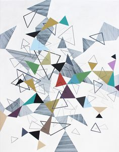 Triangles 1 Acrylic painting by Lucie Jirku Soft Colors, Colours, Landscape Artwork, Paintings For Sale, Triangles, Artworks, Abstract Art, Pure Products, Quilts