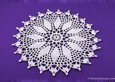 Most current Totally Free Crochet Doilies mandala Suggestions Create beautiful doilies with this free crochet spiked doily/mandala pattern and brighten up your h Free Crochet Doily Patterns, All Free Crochet, Crochet Round, Mandala Pattern, Half Double Crochet, Crochet Doilies, Easy Crochet, Single Crochet, Crochet Things