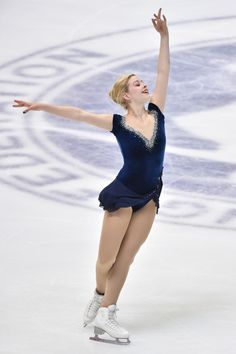 Gracie Gold of the USA competes in the Ladies Short Program during day one of ISU Grand Prix of Figure Skating 2014/2015 NHK Trophy at the Namihaya Dome on November 28, 2014 in Osaka, Japan.