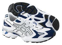 """- Included """"Impact Guidance System"""" (IGS), a stability cradle that would later become a fundamental technology in later Asics Kayano shoe series. Asics, History, Sneakers, Stability, Timeline, Evolution, Shoes, Technology, Tennis"""