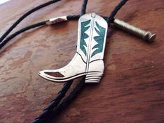 Bolo Tie Shoe String Tie Turquoise Bolo Tie by TheCatsJacket, $25.00