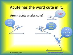 This power point teaches students all about angles.  Memory strategies, fun images and even interactive activities will make this a favorite. $5.99