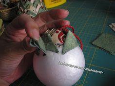 Labores a mi manera: Tutorial - Portavelas o bola de navidad