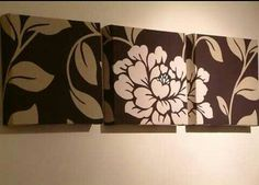 DIY Wall art fabric covered canvas