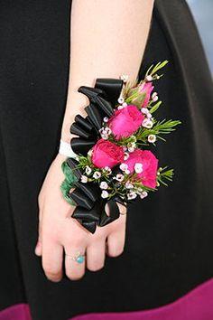 diamond prom corsage wristlet - Google Search