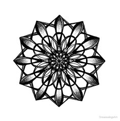 Pen and ink mandala design inspired by the music of radiohead. Geometric Mandala Tattoo, Mandala Dots, Mandala Design, Mandalas Drawing, Adult Coloring Pages, Animals Tumblr, Doodle, Design Tattoo, Geometric Tattoos
