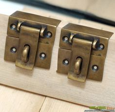 "Door Flip Latch 11.81"" inches vintage big solid brass gate door latch bar slot"