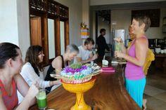 Breakfast at Narasoma Retreat Center in Ubud, Bali: Yoga and Writing for Self-Discovery Retreat Feb 21-28, 2014.