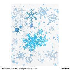 Christmas Snowfall Fleece Blanket