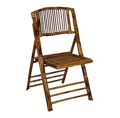 Bamboo folding chair for the ceremony and reception seating