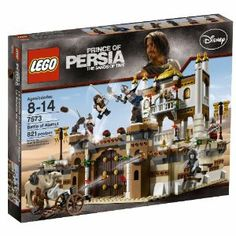 LEGO Prince of Persia Battle of Almut (7573) by LEGO. $88.99. 822 pieces. Hiding place for the secret dagger, Dagger of Time, camel and cross bow included. Studs on walls and columns to encourage parkoir play. Set includes 7 minifigures:  Dastan, Seso, Nizam, Giant Semitar Hassansin , Razor Glove Hassansin and two soldiers. Functions:  Secret door, small catapults, fire barrel drop, Secret stairs (comes out of the wall so Dastan can run up and surprise the enemy). From t...