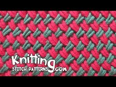 Watch video to learn how to knit the Two color Woven Plait stitch. + Techniques used in this pattern: Knit: K | Purl: P | Slip stitch purlwise: SL With yarn ...