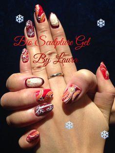 #biosculpture gel Xmas set ^.^ Bio Sculpture Gel Nails, Creative Inspiration, Xmas, Christmas, Navidad, Noel, Natal