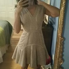 final. price Anthropologie new!  i used only. one time  gorgeous, cream red and blue Anthropologie Dresses