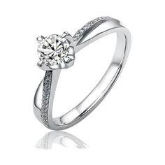 Silvego Stříbrný zásnubní prsten SHZR302