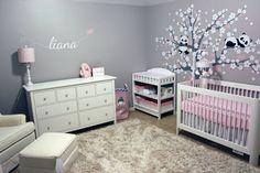 Pink/Gray - Baby Girls Room