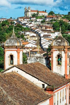 Santa Efigenia and NS do Conceiçao Churches, Ouro Preto, Brazil | Michel Therin-Weise on artflakes