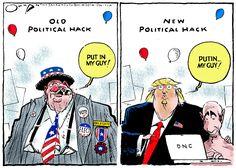 opinion political cartoons hammering donald trump over recent gaffes