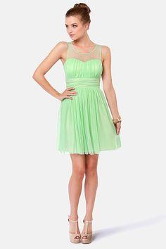 Pretty Mint Green Dress - Midi Dress - $40.00 With a black blazer??