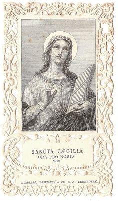 RARE Musicians Patron Saint Cecilia Antique by 12StarsVintage