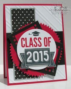 Stampin Up Class of 2015 stamp set graduation card
