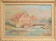 """Water Mill"". Artist: Shadrova Anastasia. Oil painting. #painting #art #artwork #artist #oilpainting  http://www.artwork-gallery.ru/catalog/zhivopis/newbie/vodyanaya_melnitsa"
