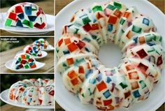Stained Glass Jello Christmas Wreath Recipe | The WHOot