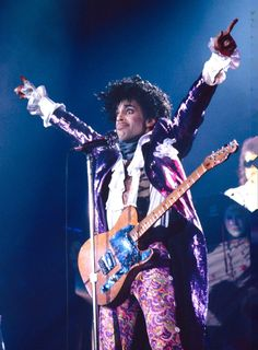 Pin for Later: Look Back at Prince's Amazing Life Through Pictures  The star went full Purple Rain for a performance in New York City in January 1990.