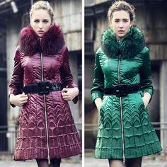 2013冬季时尚奢侈品牌的刺绣鸭绒大衣冬季外套,设计师欧式女装保暖大衣女士outerwea $403.56