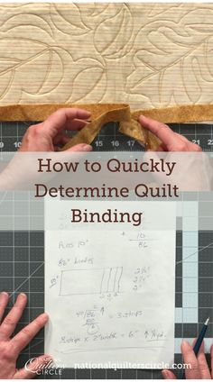 While most quilt patterns will provide you with fabric requirements to complete the quilt top and may even give you the amount of fabric needed for the backing fabric- not all patterns include the length of binding needed. ZJ Humbach explains how to quickly and easily calculate quilt binding, taking into account the extra needed to miter the corners and join the binding ends. Quilting Frames, Quilting Tips, Quilting Tutorials, Hand Quilting, Quilting Projects, Easy Sewing Projects, Sewing Tips, Sewing Hacks, Sewing Crafts