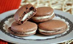 Chocolate Macarons with Vanilla Buttercream Filling | Baking Bites
