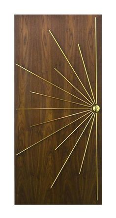 Vintage Decor Ideas Door Decoration Ideas Adding the Final Touch to Mid Century Modern Homes - Door decoration with bright color and unique details are beautiful ways to personalize mid-century modern homes Décoration Mid Century, Mid Century Style, Mid Century House, Mid Century Design, Modern House Design, Modern Interior Design, Midcentury Interior Doors, Midcentury Modern Front Door, Home Door Design