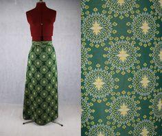 Green 1970's Geometric Cross Stitch Print by PatternVintageLondon