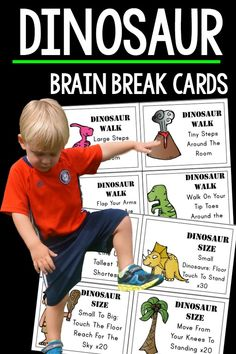 Preschool themed gross motor.  These are great for preschool and up.  The PERFECT addition to any dinosaur unit or for any dinosaur lovers.  Dinosaur themed gross motor is fun for everyone!