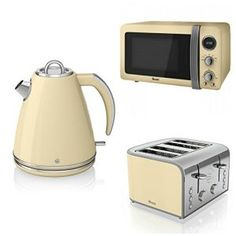 Details About Red Russell Hobbs Microwave Kettle Toaster