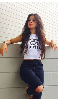 I'm Camila Cabello, but call me Cami. I'm 16 and single. I am in Fifth Harmony! I like to sing, dance, and model. My Bffs are Lauren and Ally! Mode Adidas, Camila And Lauren, Fifth Harmony, Girl Photography Poses, Stussy, Tumblr Girls, Mode Style, Woman Crush, Girl Photos