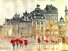 market in Brussels by takmaj.deviantart.com on @deviantART