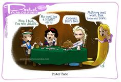 Pocket Princesses 134: Poker Face Please reblog, do not repost...